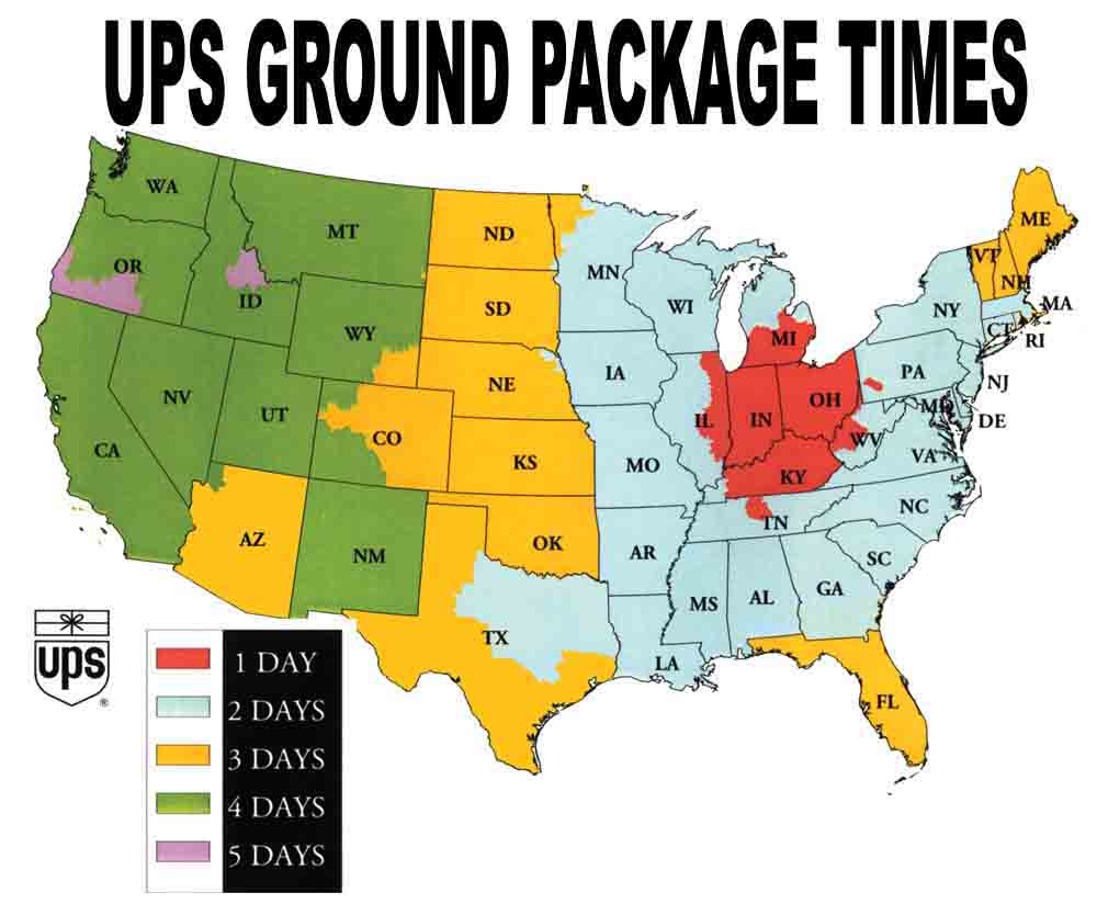 UPS Ground Delivery Time