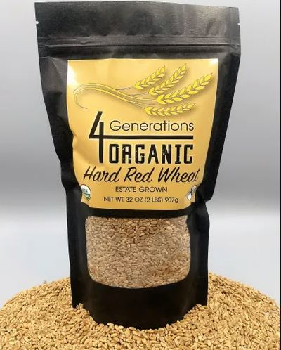 Organic Ruby Lee Wheat Berries 2 lbs