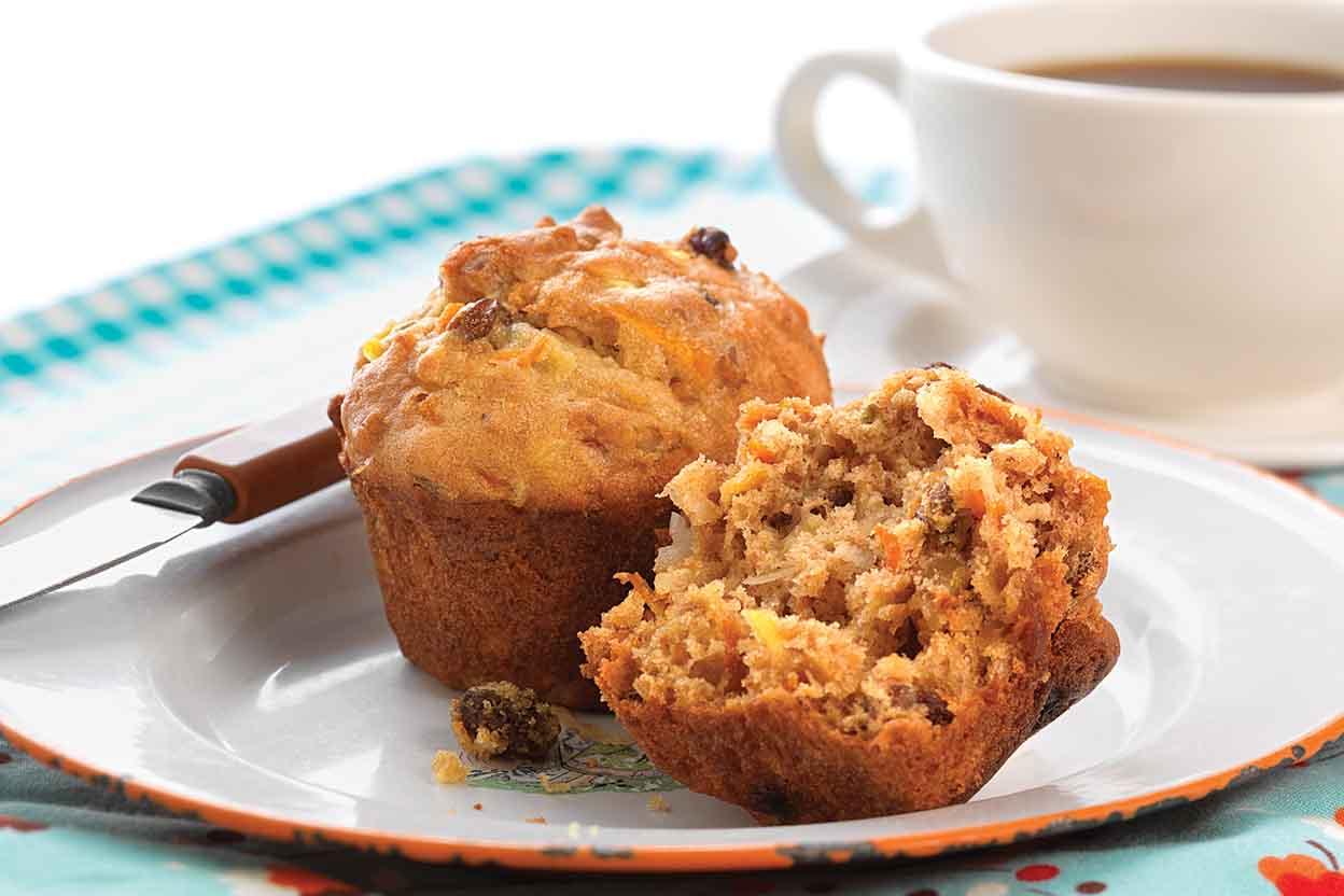 Fat-free Carrot Raisin Muffin Batter